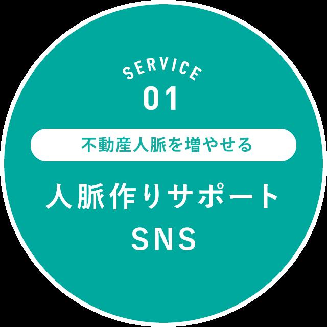 SERVICE 01: 不動産のプロ同士の人脈を増やせる人脈作りサポートSNS